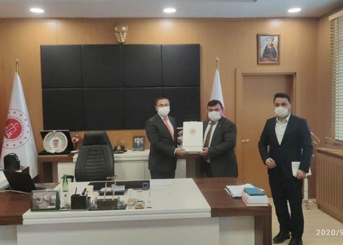 Cumhuriyet Başsavcısı Sn. Oğuzhan Dönmez ve Adalet Komisyon başkanı Sn. Erhan Çavuşoğlu